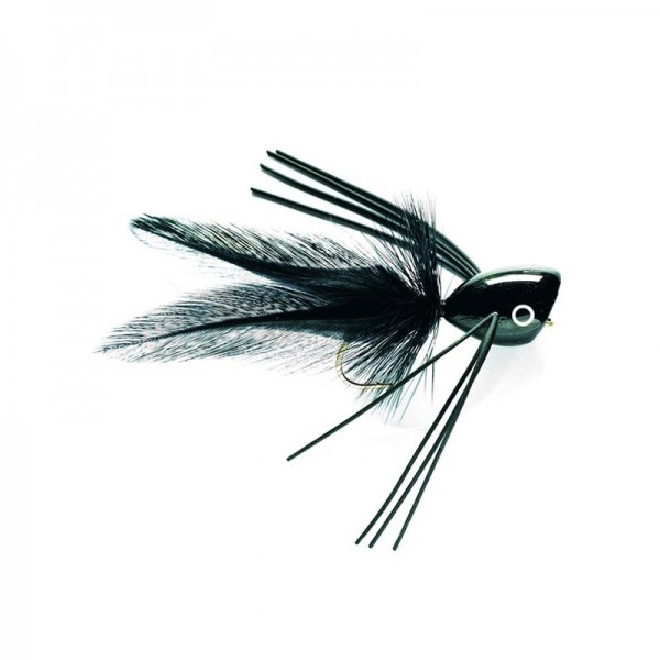 Fulling Mill Bass Popper Black #6